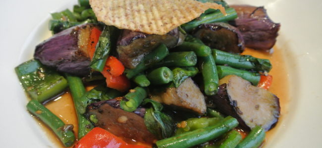 SAUTEED STRING BEANS AND EGGPLANT
